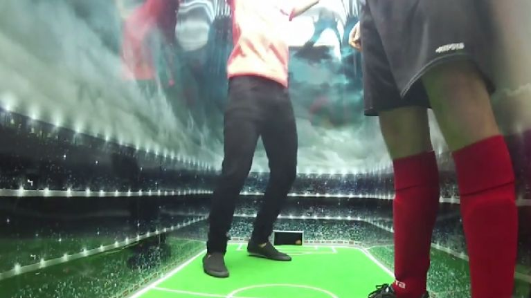 Video: Belgian snack-food company stage football matches inside a vending machine