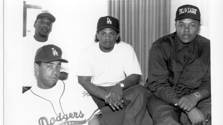Pic: Dr Dre posts first shot of cast for NWA biopic