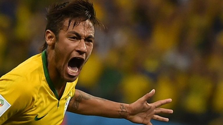 Vine: The shocking penalty decision that has put Brazil into a 2-1 lead