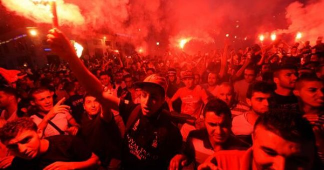 Pic: The scene in the centre of Algiers during tonight's match will blow you away