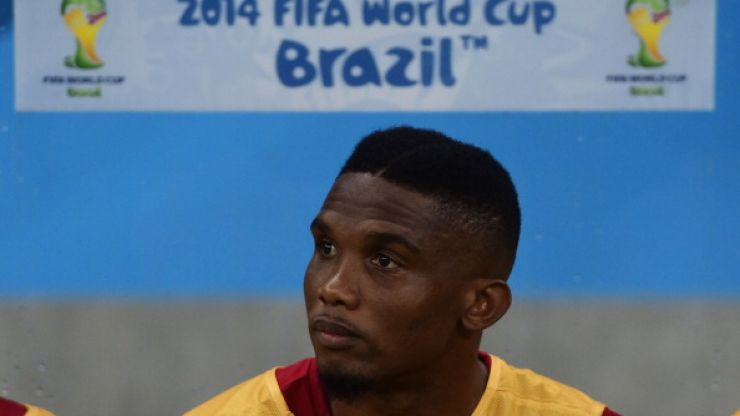 Vine: Eto'o mocks Mourinho yet again with 'old man' celebration after scoring against Germany