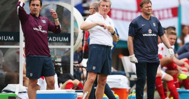 Pic: England physio gets injured celebrating their equaliser against Italy