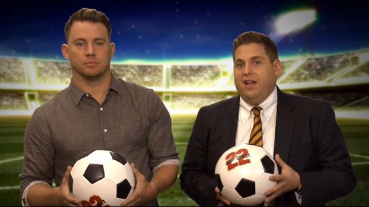 Video: Jonah Hill and Channing Tatum give some pointers to the teams at the World Cup