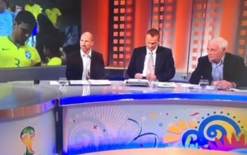 "Vine: Eamon Dunphy doesn't realise he's on air and says ""f*ck"" before Billo steps in"