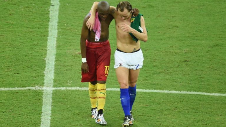 Vine: Football players swapping shirts is one thing but swapping shorts is just plain silly