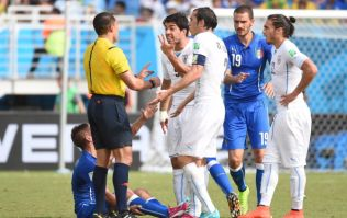 Was it a bite? Twitter has its say after Luis Suarez gets up close and personal with Giorgio Chiellini