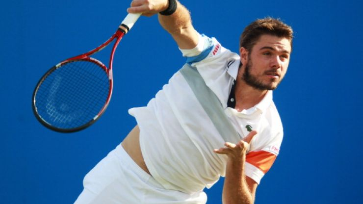 Video: Stan Wawrinka's terrible attempt at breaking his tennis racket even made himself laugh