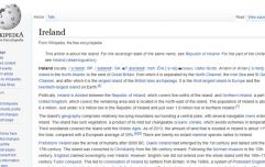 'Ireland' is the 88th most edited page on Wikipedia, just behind Chelsea and above World War I
