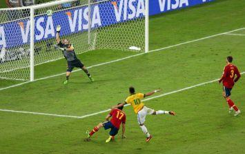 Video: Neymar's free-kick against Panama this evening wasn't half-bad