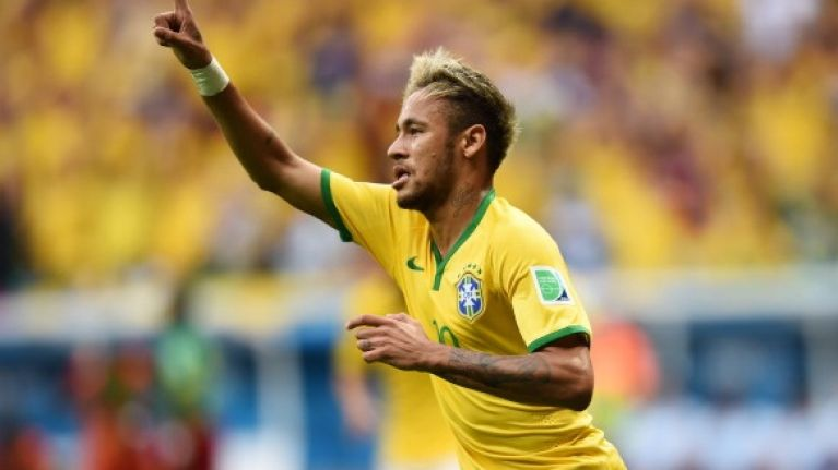 Vine: Neymar's finish for Brazil's opening goal against Cameroon was sweet as a nut