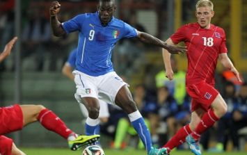 Video: Mario Balotelli produced a glorious first touch and a brilliant outside of the boot cross to set up Italy's goal last night