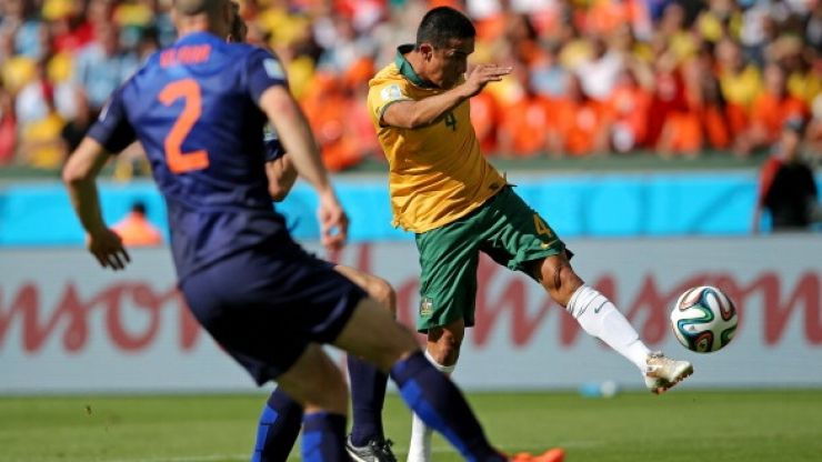 Chicago Town Take Away Slice of the Action: Tim Cahill scores the goal of the World Cup so far