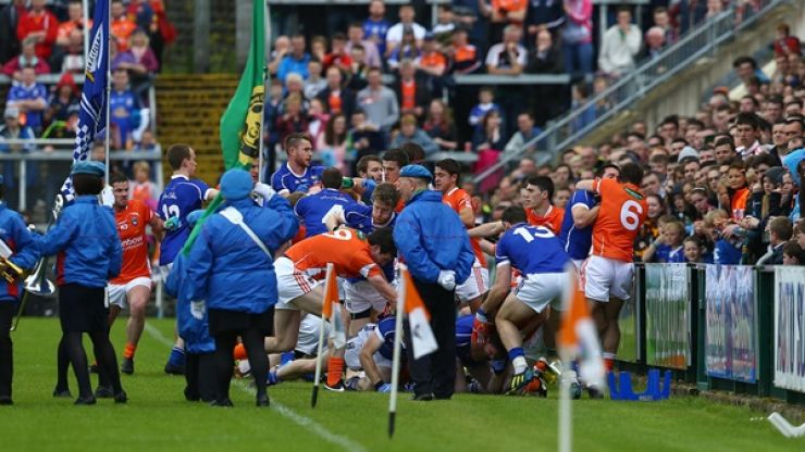 Video: A few different angles on the Armagh/Cavan pre-match brawl