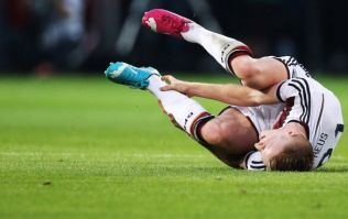 Pic: Marco Reus' ankle did not look good last night and he's been ruled out of the World Cup