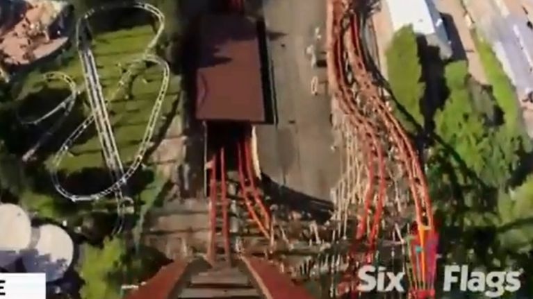Video The Tallest And Fastest Wooden Roller Coaster In The World Opened In The Us Today
