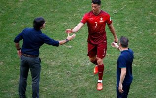 Vine: Löw blow. German manager picks his nose; shakes hands with Ronaldo immediately afterwards