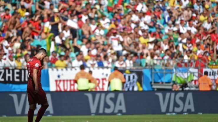 Vine: Cristiano Ronaldo was very, very sad during Germany's demolition of Portugal today