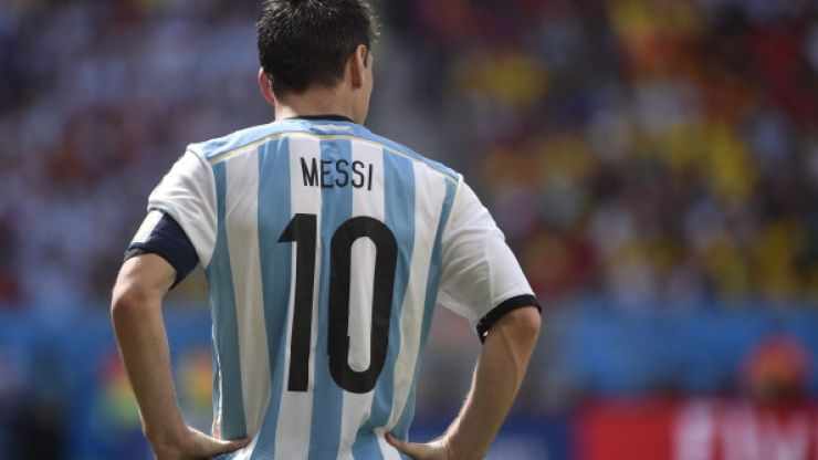 GIF: Bask in the beauty of Messi's perfect pass to Di Maria against Belgium from above