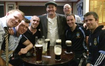 Pic: So, one of the stars of Anchorman was in Naomh Jude GAA club yesterday to watch a match and have a pint