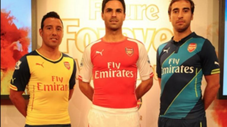 16c72efd9a7 Pic  Arsenal officially launch their new kits for the 2014-15 season and  they