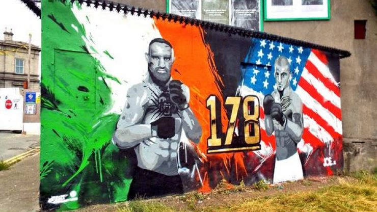 Pic: Yet another cracking Conor McGregor mural crops up in Dublin ahead of UFC 178