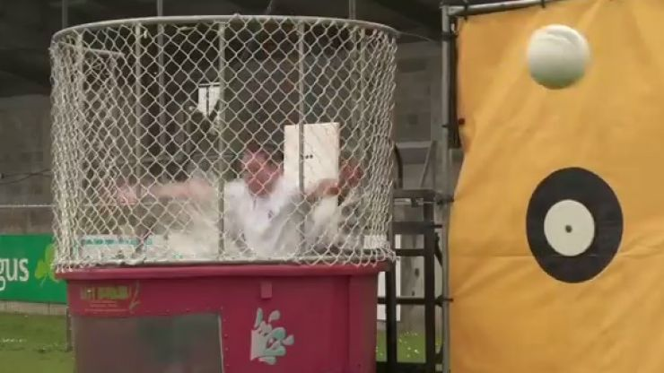 Video: Stephen Cluxton was the big loser in Dublin's Dunk Tank Challenge