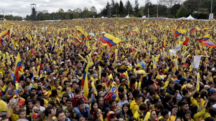 Pics: Just look at the crowd that turned out to welcome Colombia home from Brazil