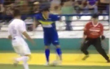 Video: Genius, cheeky futsal goal by Brazilian star Falcao