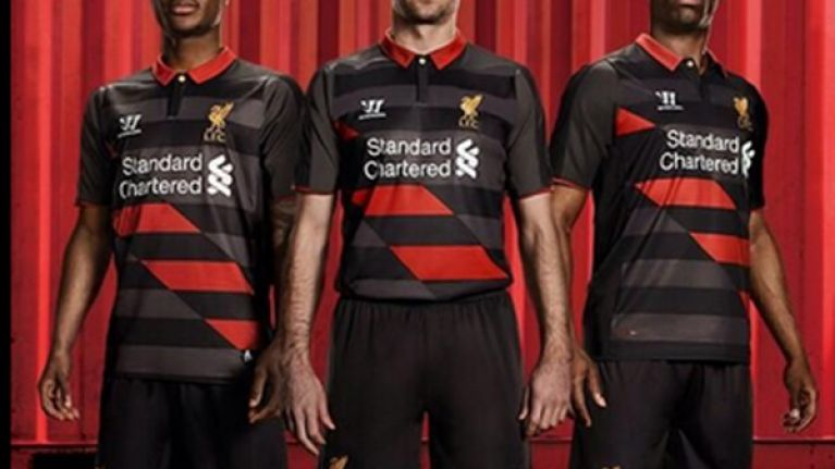 36cf87361 Pic  Liverpool launch their new third choice strip and it will definitely  divide opinion