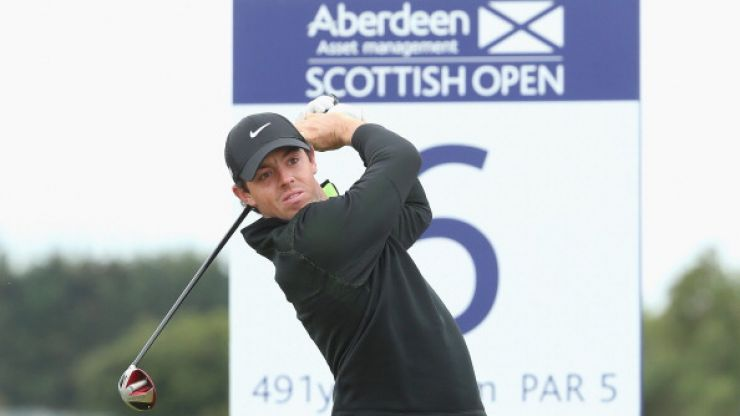 Video: Rory McIlroy blasted his drive a massive 436-yards at the Scottish Open today