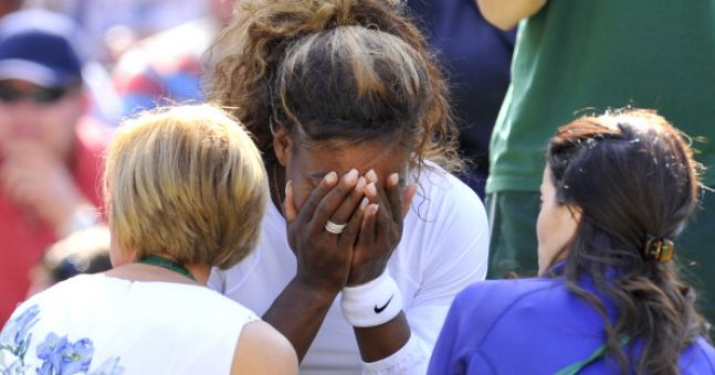why did serena retire her match today