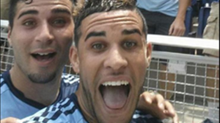 Video: MLS player takes a selfie with fans after scoring, gets a yellow card