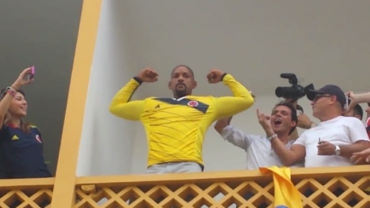 Video: Hollywood actor Will Smith celebrates with locals in Colombia after their win over Uruguay