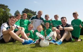 Kildare footballers helping to give the boot to Motor Neurone Disease by joining the Walk to D-Feet