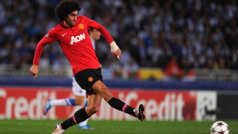 Pic: Stop everything! Marouane Fellaini has had his hair cut! Or has he?