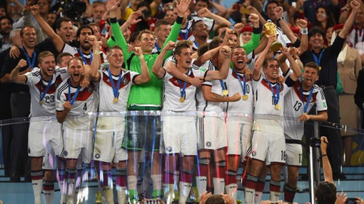 The Noise From Brazil: Germany lift the trophy, Rihanna does too and Scolari does the honourable thing