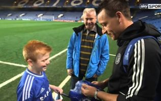 Pic: Young Chelsea fan from Dublin with rare bowel condition meets Mourinho and Terry on special visit to Holland