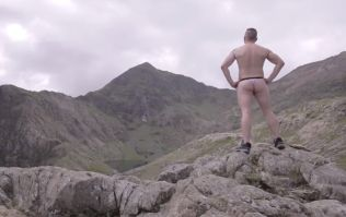 Video: Football fan loses World Cup bet and is forced to climb mountain... wearing only a thong