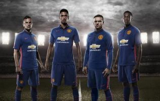 Pic: Manchester United will be wearing their new blue third kit against Inter Milan tonight