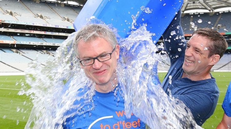 About time too! Joe Brolly finally gets what's coming to him with his Ice Bucket Challenge