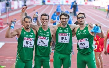 Pics: Ireland's men reach 4 x 400m relay final at the European Championships
