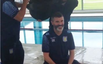 Vine: Roy Keane has done the ice bucket challenge and he didn't even blink