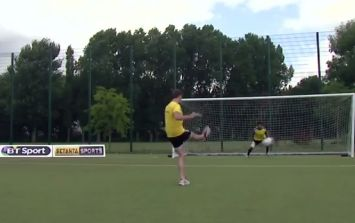 Video: Watch JOE fire some penalties past former England 'keeper David James