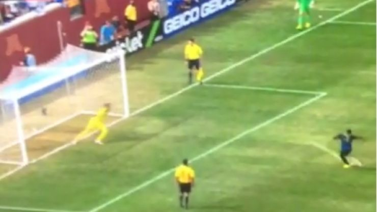 Vine: Micah Richards sends ball on a secret mission to Mars with this penalty...