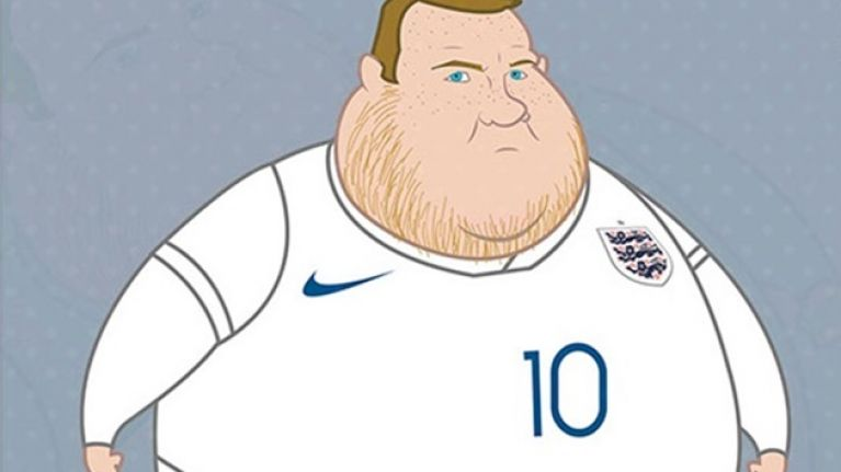 gallery these famous footballers drawn as fat cartoon characters