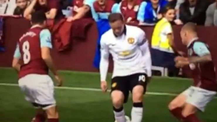 Vine: Wayne Rooney is nutmegged by Burnley's Kieran Trippier