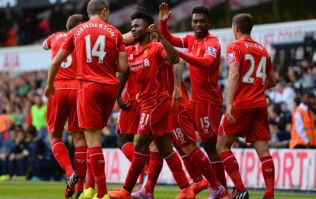 Vine: Raheem Sterling gets on the end of a fine passing move to put Liverpool ahead