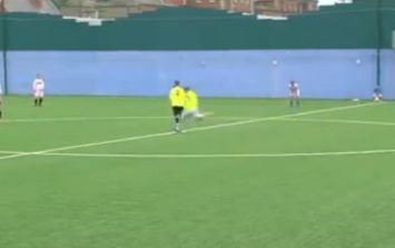 Video: Heckler abuses player at Dublin charity match, player responds with amazing goal from the halfway-line