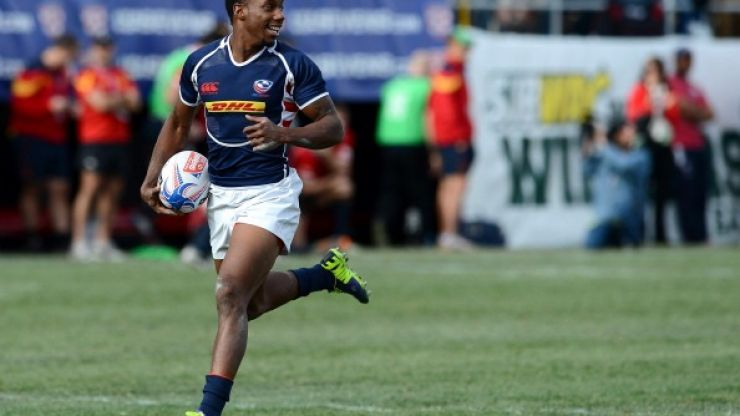 Pics: Yes, that's rugby sevens superstar Carlin Isles playing hurling in Limerick