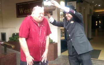 Video: George Hook looks as sexy as ever doing the Ice Bucket Challenge